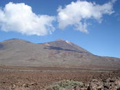 Blick auf den Teide Gipfel vom Ziel unserer Anfahrt.