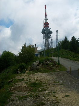 Mont du Chat - Die Sendestation .