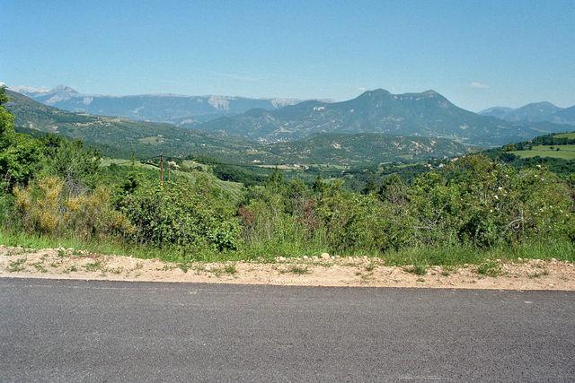 Col de Bonnet Berge der Hochprovence hinter Digne