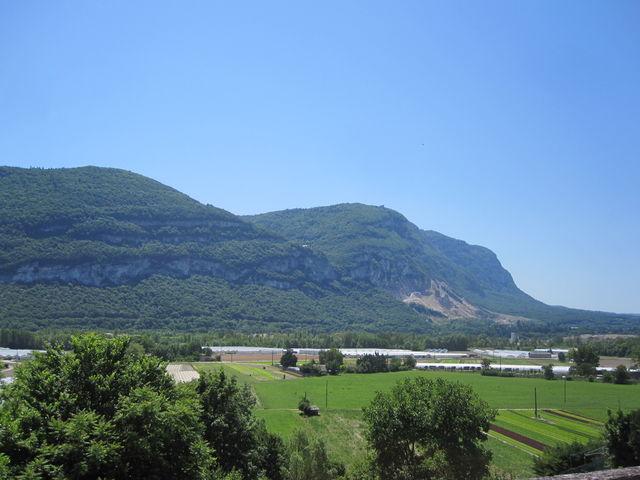 Mont Salève von Genf aus gesehen.