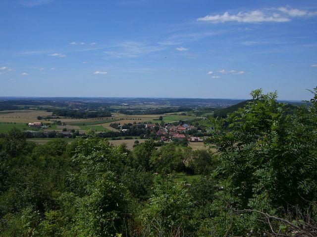 Waldvariante: Ausblick an der 2. Spitzkehre