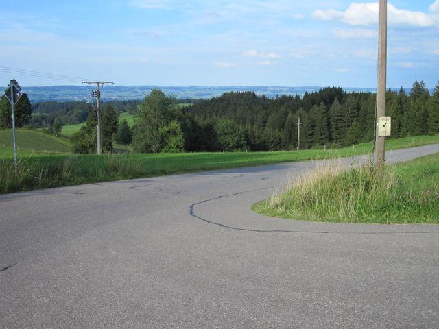 Passhöhe Ausblick nach Nordosten.