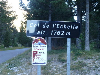 Bei 0 Grad auf den Col de l'Echelle
