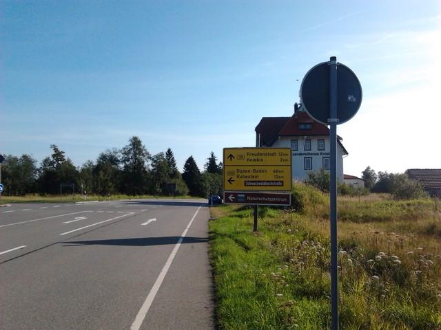 Passgipfel Kniebis-Alexanderschanze.