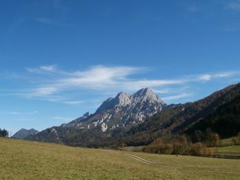 Blick von der Passhöhe zum Großen Buchstein.