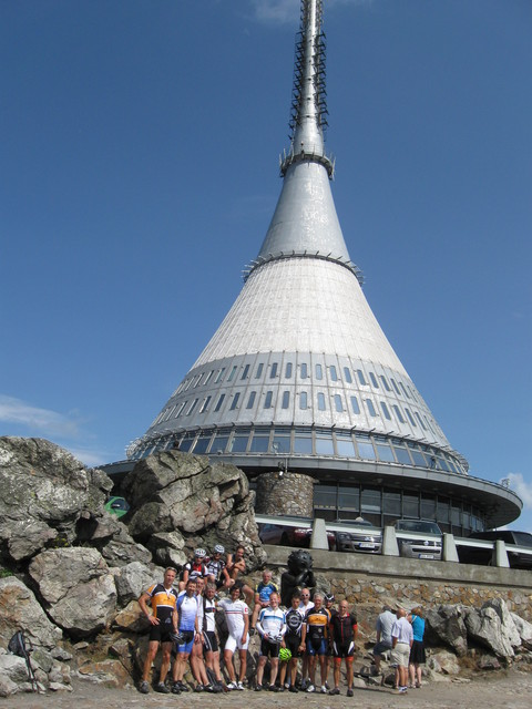 Abschlussbild der Riesengebirgs-Rundfahrt 2014 am Jeschken.
