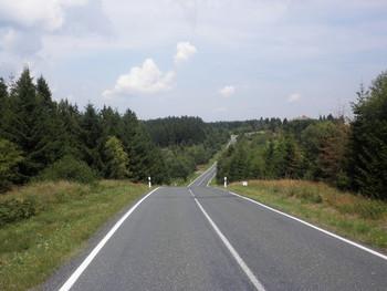 Zwischenan- und abstiege zw. Wildberg und dem Ort Neuenbau, Hochpunkt der Südseite