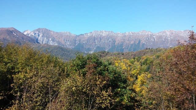 Blick in die nördlich gelegenen Berge