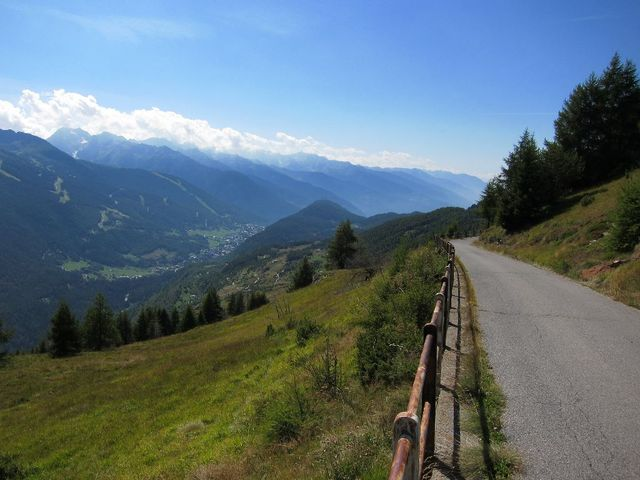 Monte Padrio Blick nach Südwest auf Aprica.