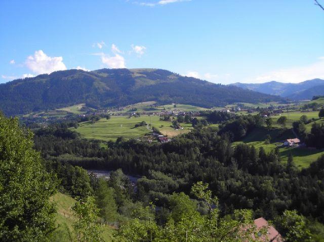 Blick über Plaffeien zum Gross Schwyberg