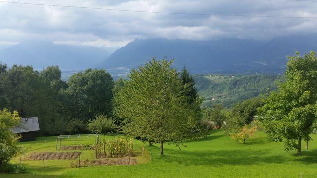 Blick ins Piave-Tal auf der nödlichen Auffahrt kurz hinter Tambre