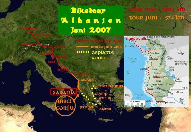 Route Albania 2007.