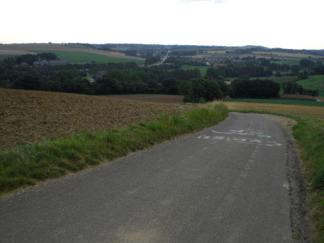 Rückblick auf die letzten Meter und die südlimburgische Hügellandschaft