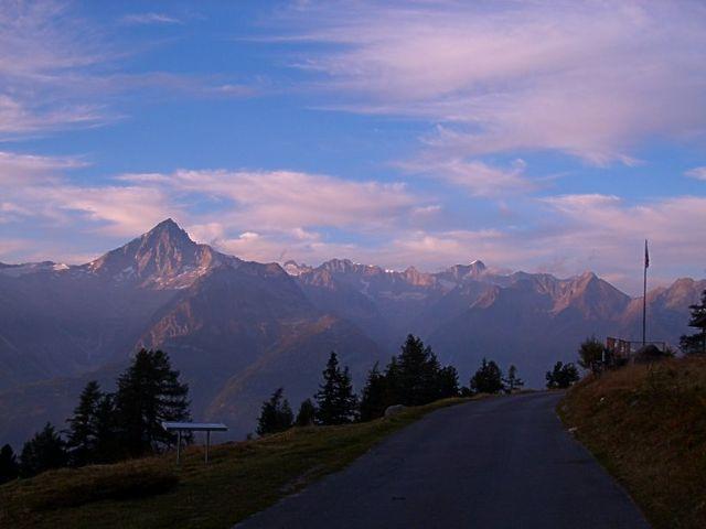 Panorama mit Bietschhorn.