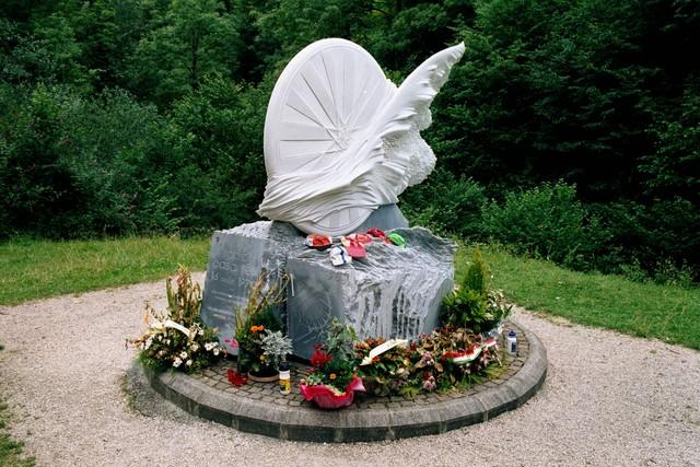 Denkmal für Fabio Casartelli auf der Westrampe vom Portet d'Aspet