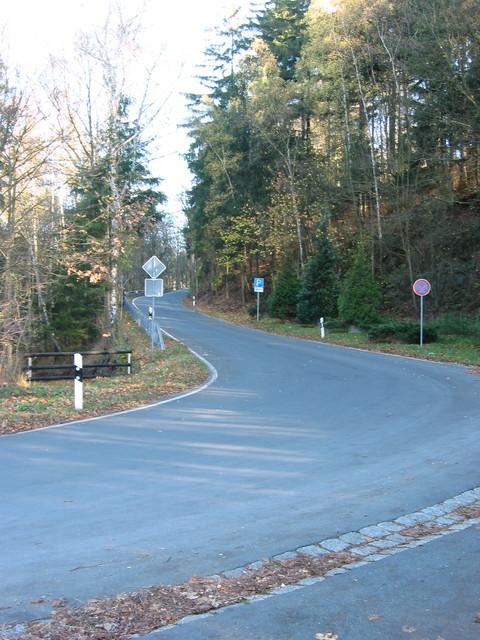 Beginn des Anstieges nach Wernsdorf ...