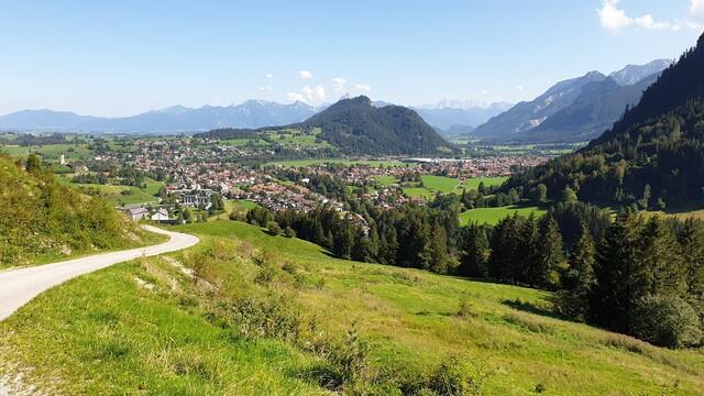 Auffahrt Alpspitze.