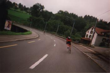 Highspeedkurve zum RuppenpassItalien 1999