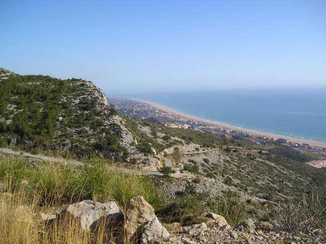 Von Castelldefells: Steilstück plus Küste.