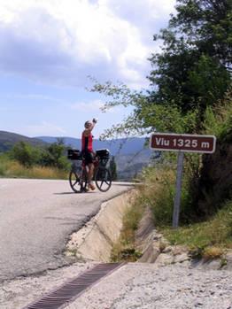 Der Alto de Viu, ein kleiner Pass vor dem...