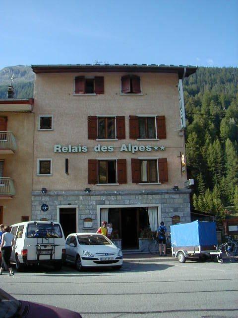 Das Hotel in Lanslebourg.