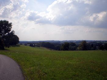 Blick nach Westen: Bergische Weidewirtschaft.