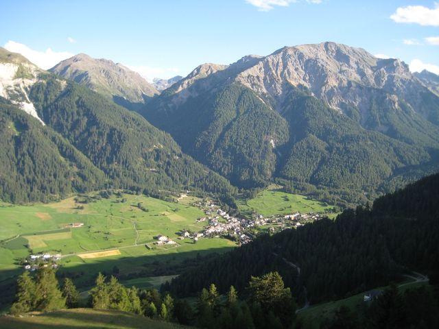 Abendstimmung am 01.08.2010 über dem Val Müstair...