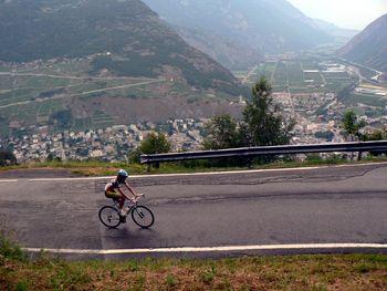 Blick auf Martigny und das Tal.
