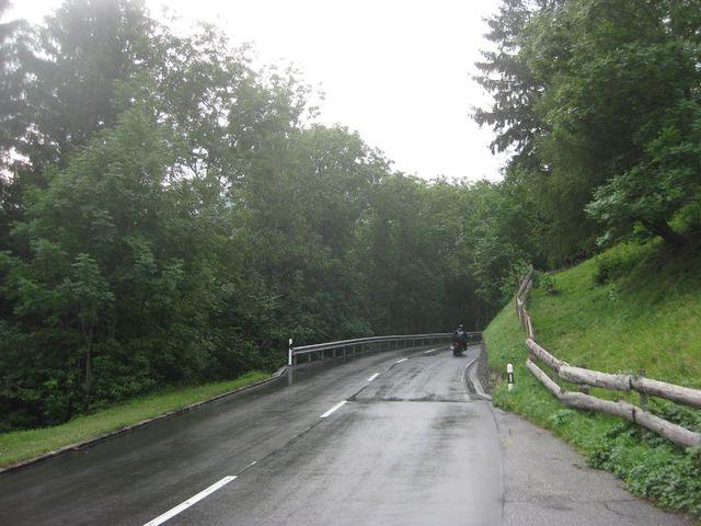 Nasser Beginn zwischen Chur und Churwalden