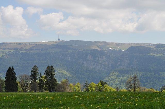 Blick vom Mt. Soleil zum Chasseral.