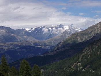 Blick vom Simplonpass in Richtung Aletschgletscher