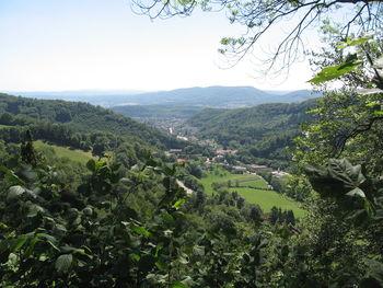 Kurzer Ausblick über Trimbach ins Mittelland