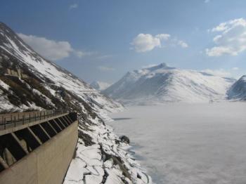 Keine Expedition zum Polarmeer, sondern lediglich der zugefrorene Stausee auf 1908m Höhe