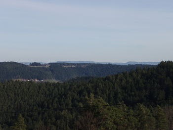 Schöne Ausblicke bietet die Verbindungsstraße Heuwiese-Hinterholz