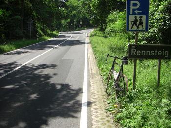 Passübergang Vachaer Stein von Norden gesehen. Rechts geht es nach Clausberg und zum Hütschhof.