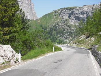 Abfahrt vom Passo Sella, Flachpassage Richtung Grödnerjoch