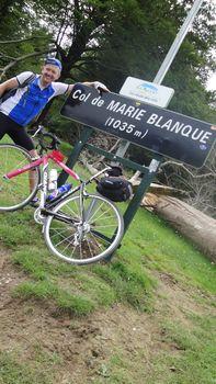 30.MarieBlanque. Knackiger Anstieg aus Escot kommend. Juni 2010