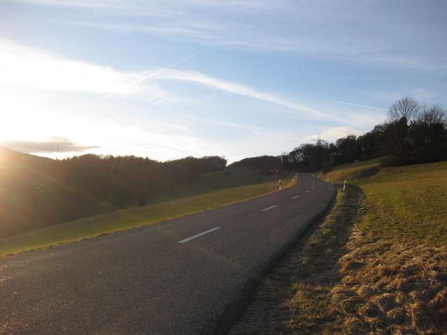 das letzte Teilstück der Südanfahrt (Januar 2011)