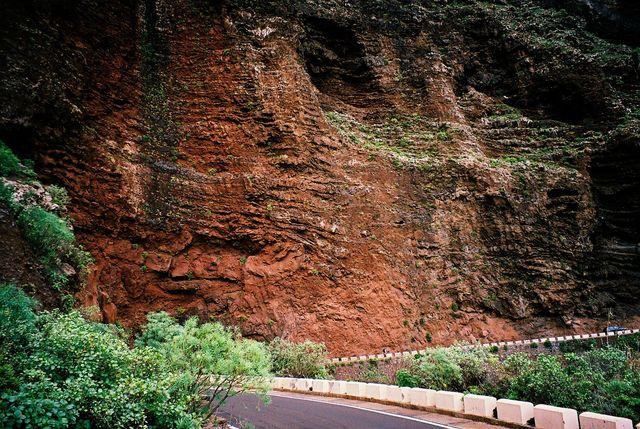 Bergen Mirador del Pompeyo mit Radfahrer.