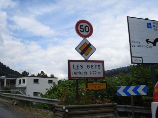 33. Der letzte Pass der Süd-Nord Durchquerung der Route des Grandes Alpes Juni 2009. Les Gets ein häßlicher Skiort auf dem Weg nach Thonon les Bains/genfer See
