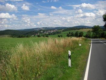 Blick zurück auf Allersdorf, Kirchberg und Fröbelturm.