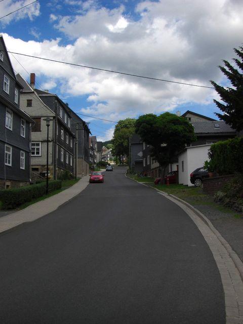 In Meuselbach nimmt die Steigung zu.