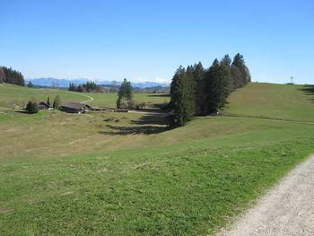 Wenger Egg: Kreuz auf dem Raggenhorn (1056 m).