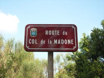 Route du Col de la Madone