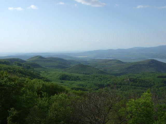Blick nach Nordosten, Richtung Esztergom und Slowakei