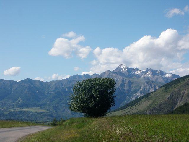 Schöner Baum, Blick von der Passhöhe nach Norden