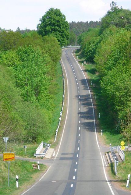 Der steile halbe Kilometer hinter Sichenhausen.