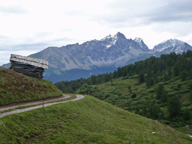 Alp Foppa(2004m) der kurze Schotterweg ganz oben, 20.6.11.