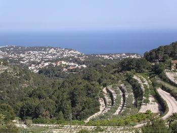 Blick von Pedramala in Richtung Moraira.
