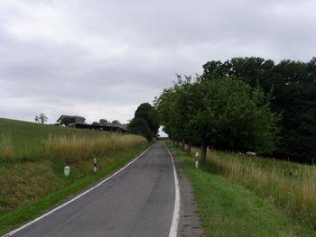 Richtung Kreuzung bei Forstel.